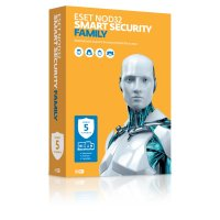 Антивирусная программа ESET NOD32 Smart Security Family на 5 ПК – лицензия на 1 год)