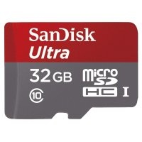 Карта памяти Micro SD 32Gb SanDisk Ultra Android class 10, UHS-I, 48Mb/s (SDSQUNB-032G-GN3MA)
