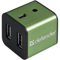 Концентратор USB 2.0 Defender Quadro Iron USB 2.0, 4 порта метал. корпус Art.83506