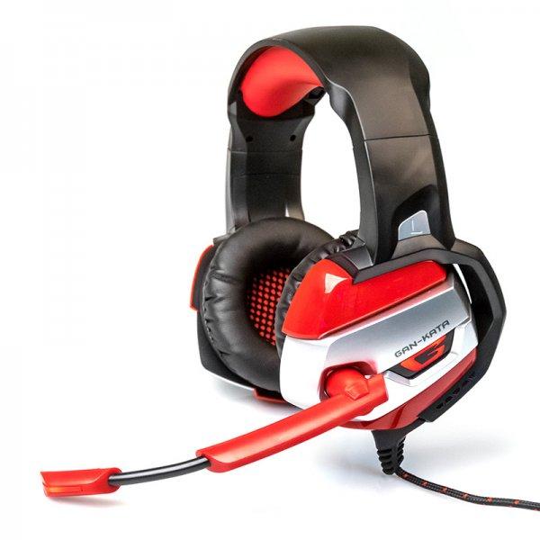 Гарнитура игровая  HGK-37L BLUE Dialog Gan-Kata - с подсветкой и регулятором громкости, черно-синяя - Наушники, микрофоны, гарнитуры - Колонки, наушники