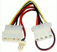 Кабель силовой Molex 4pin male to female + 3pin FAN Power cable