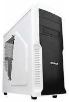 Корпус без блока питания ZALMAN Z3 PLUS White Mid Tower, ATX, USB3.0, 120mm Fan x3, fan controller, видео карты до 360мм, SSD support, black color